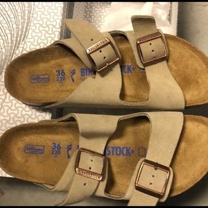 Birkenstock Arizona taupe suede leather